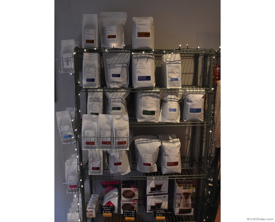 ... including a wide range of coffee beans and coffee kit on the lower levels.