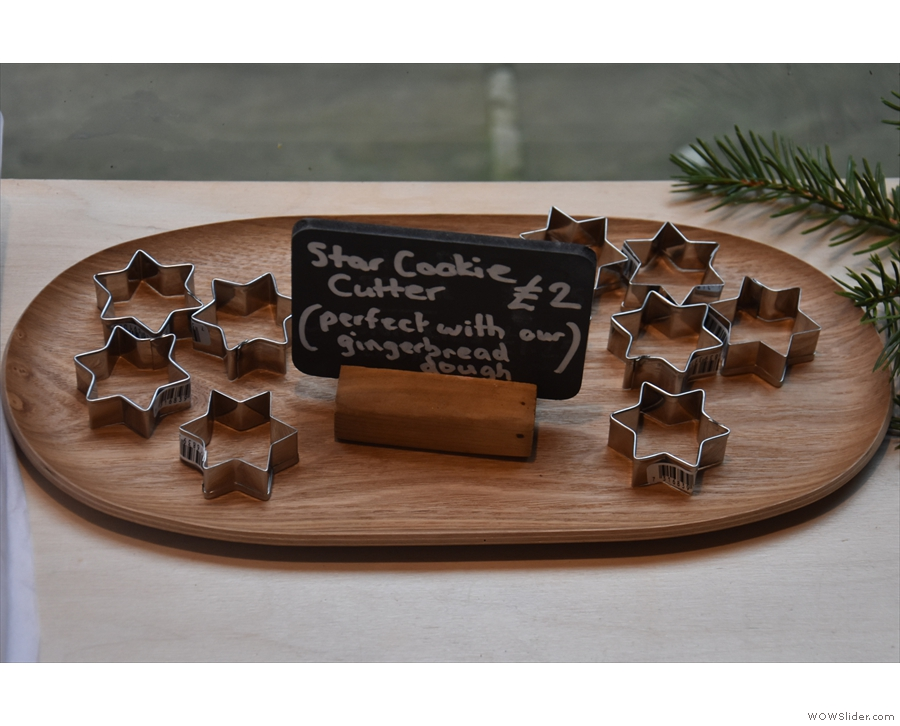 ... and, tucked away to one side, star cookie cutters!