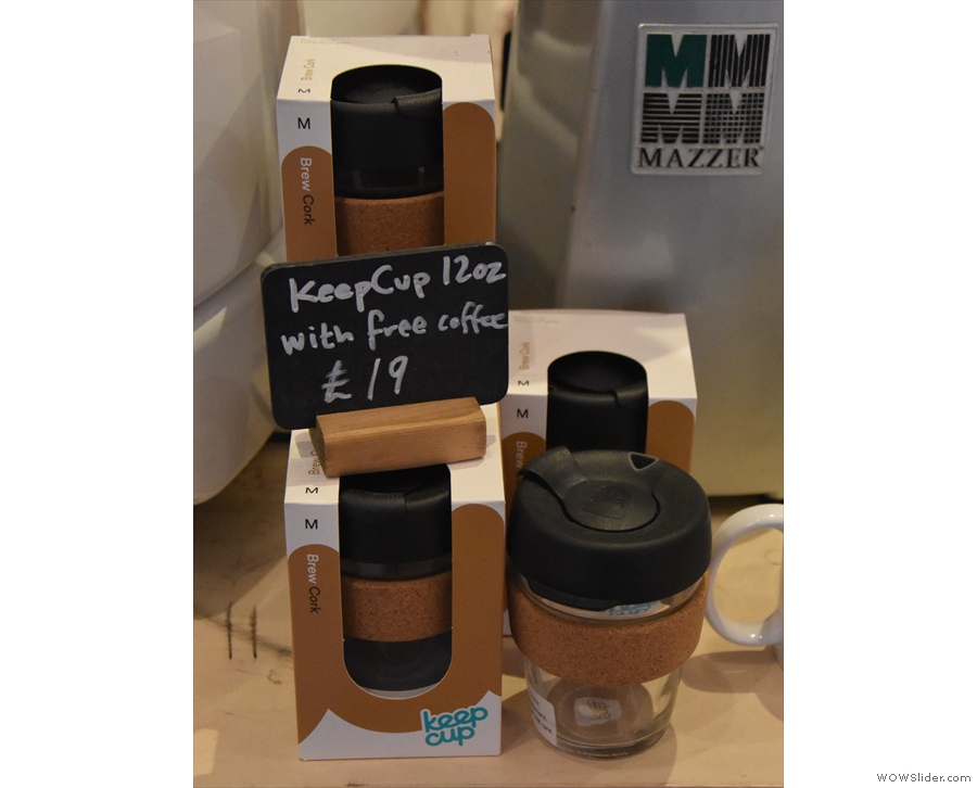 ... and some Keep Cups (Koja being happy to accept customer's reusable cups).