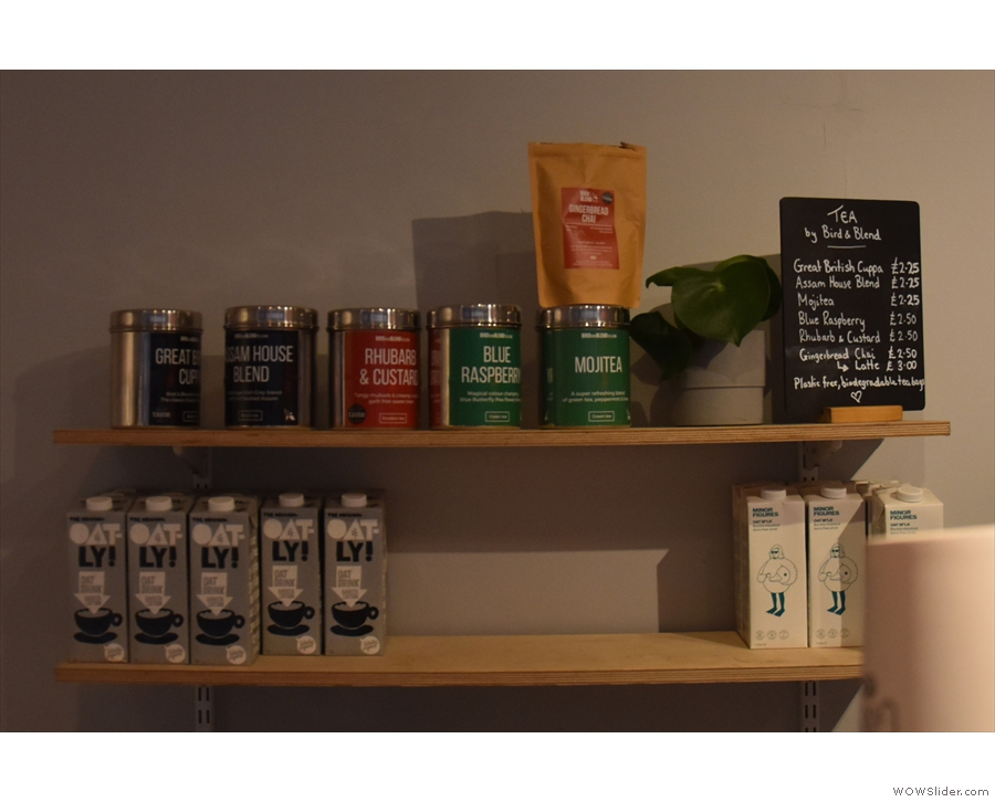 ... where you'll also find the selection of tea.