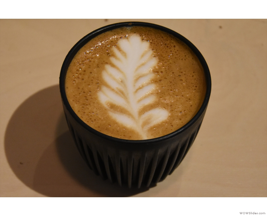 On my return, I had another excellent flat white...