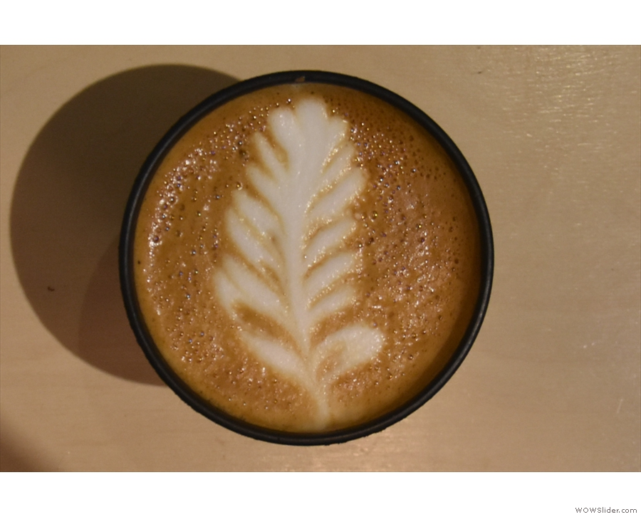 ... with more excellent latte art...