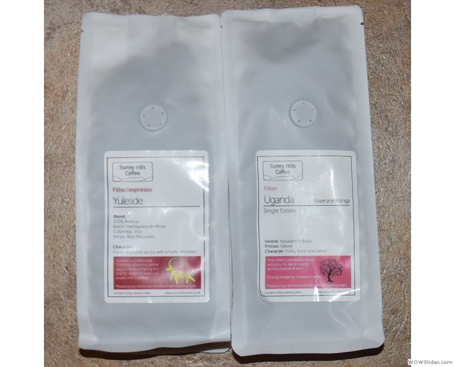 I also came away with a couple of bags of coffee, including the Yuletide blend.