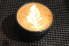 I however, had come for coffee, starting with a flat white in my HuskeeCup on Saturday.
