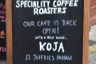 ... which is when Koja by Surrey Hills Coffee opened.