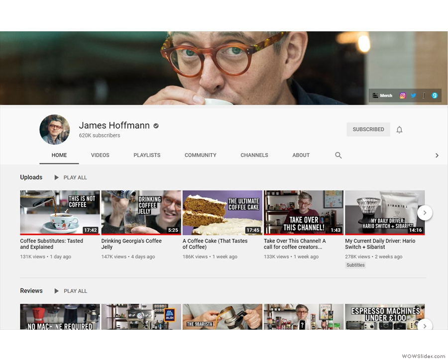 The James Hoffmann Channel on YouTube.