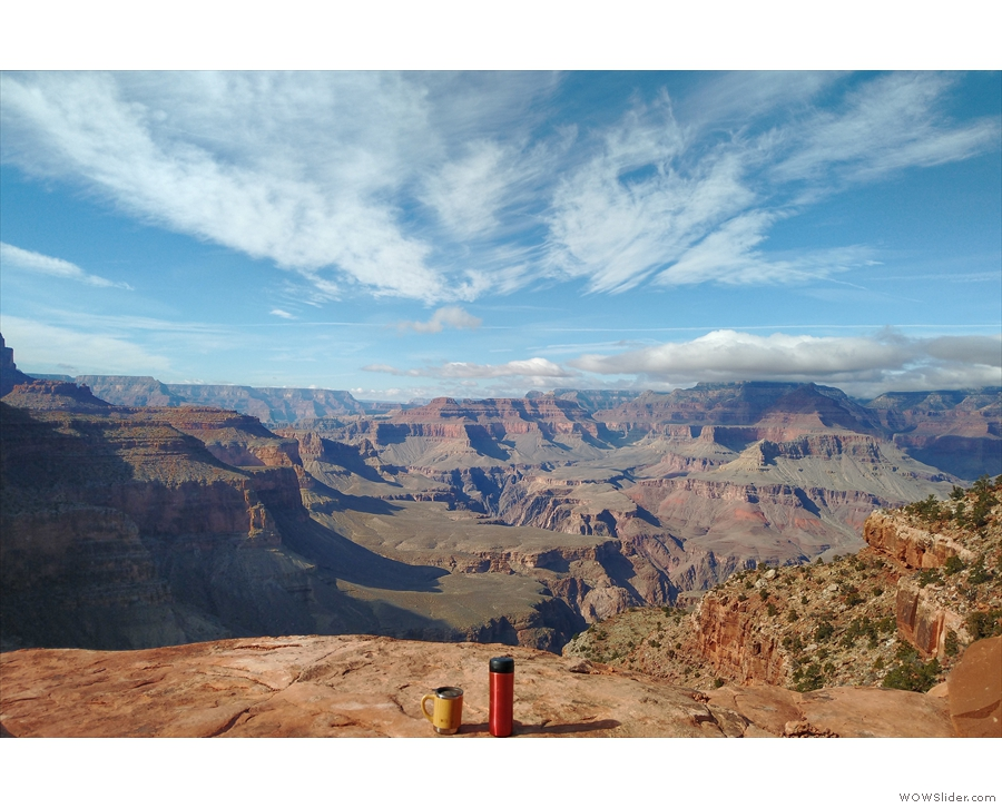 Cover: I take my coffee to all the best places! This year, back to the Grand Canyon!