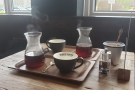 February: enjoying a pair of V60s with Amanda at Ue Coffee Roastery Cafe & Kitchen.