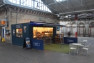October: grabbing a coffee to go at Gourmet Coffee Bar & Kitchen at Crewe Station.