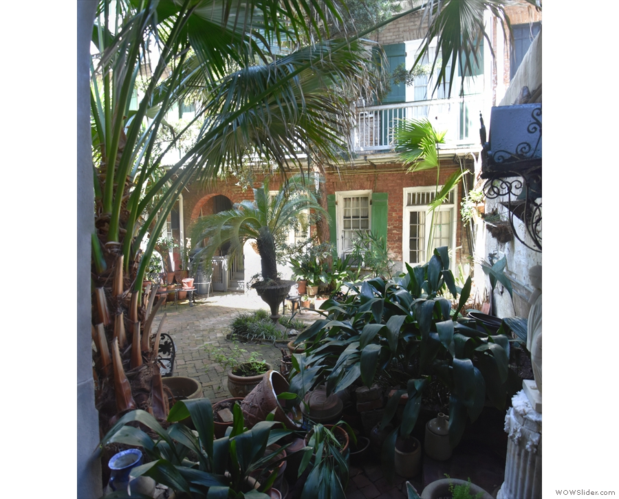 The view back across the courtyard. You can just see my room next to the stairs.