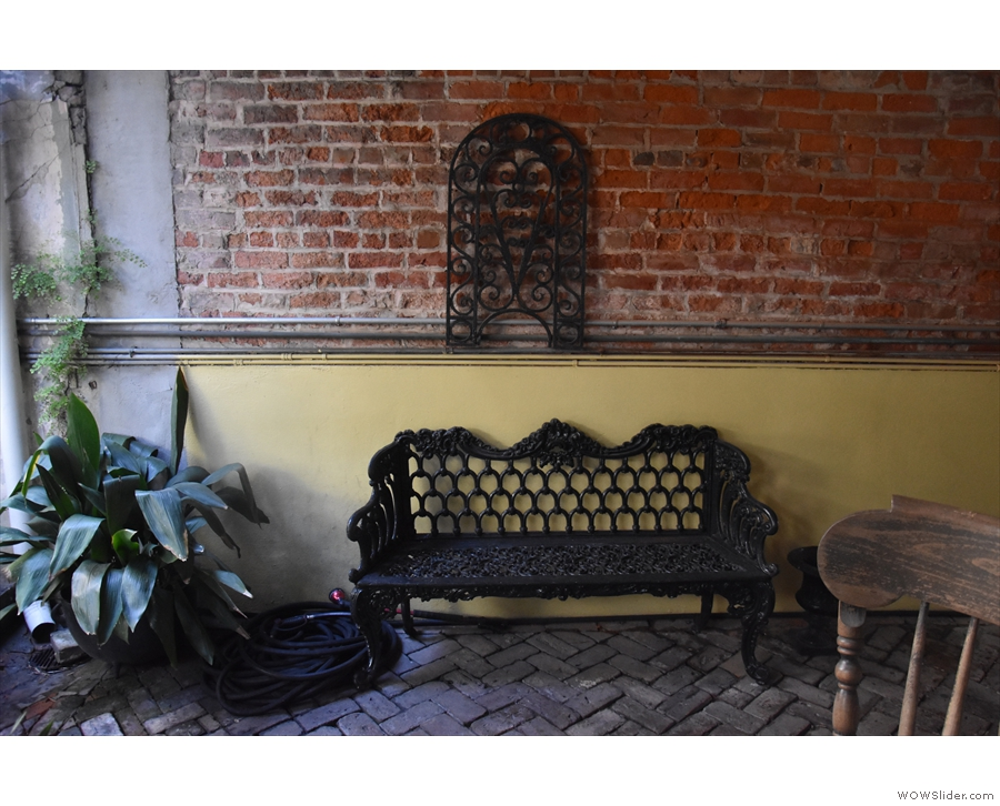 ... and this bench...