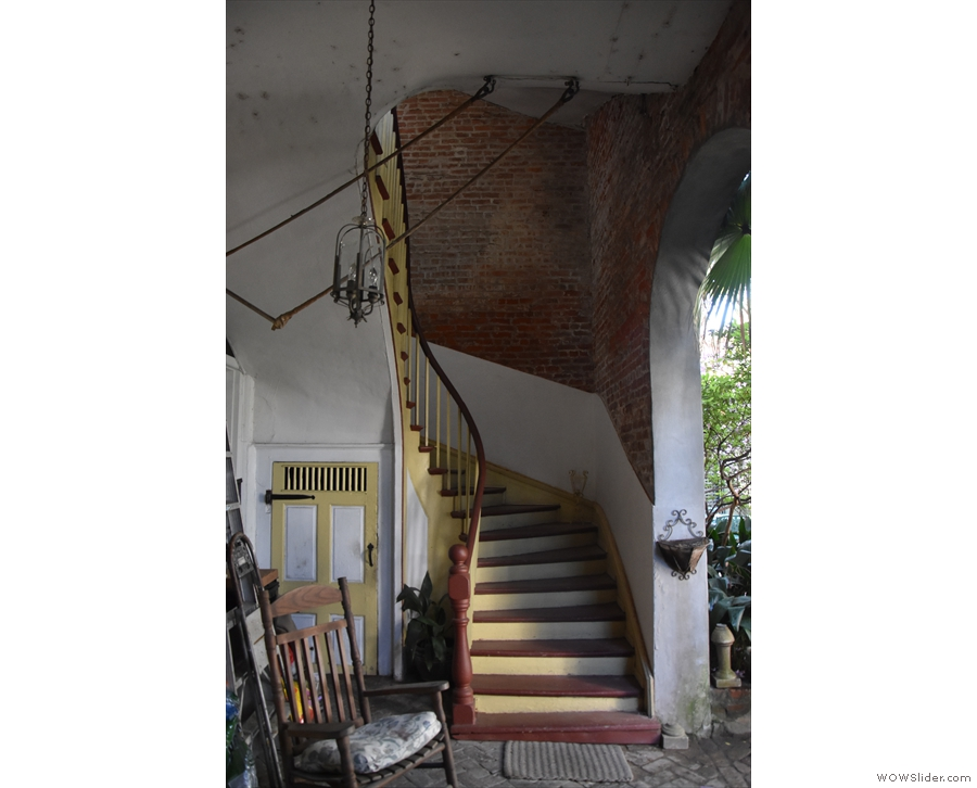 ... while this rather glorious staircase led up to another apartment upstairs.