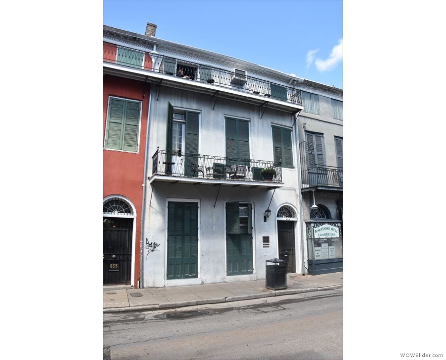 Instead, I was staying just off Bourbon Street. The unpromising looking gate on the right...