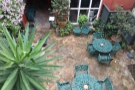 A view of the courtyard from above...
