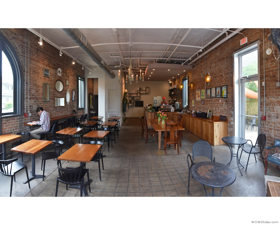 This is another coffee shop with a large and gorgeous interior.