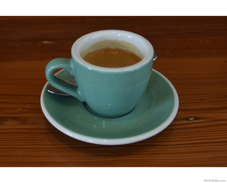 ... and here's my espresso, which was just as good!