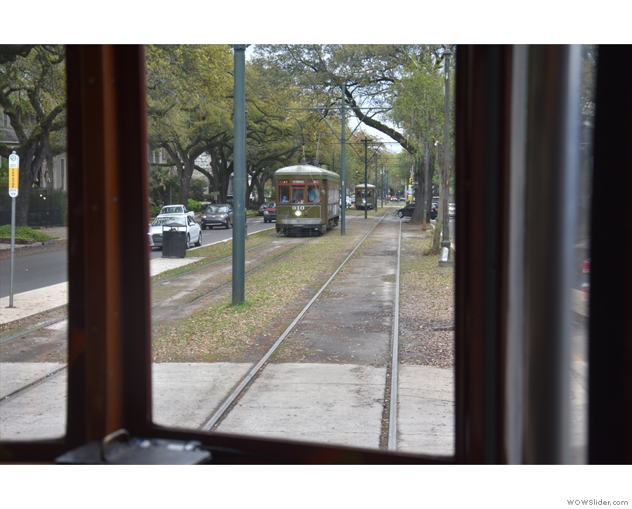 Streetcars, like buses, it seems, come in clumps.