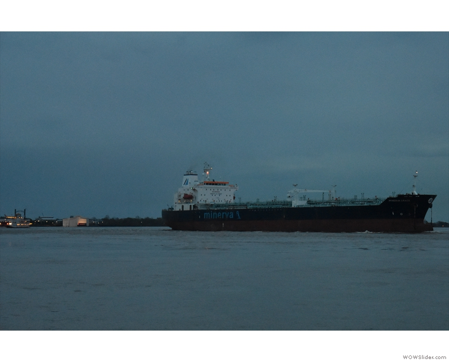 After dinner, I went down to the river one last time to watch the ships go by...