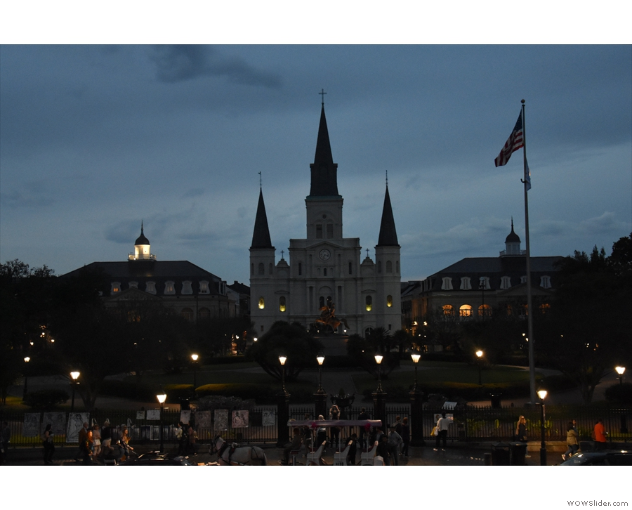 I'll leave you with a view of Jackson Square and the Cathedral in the twilight.