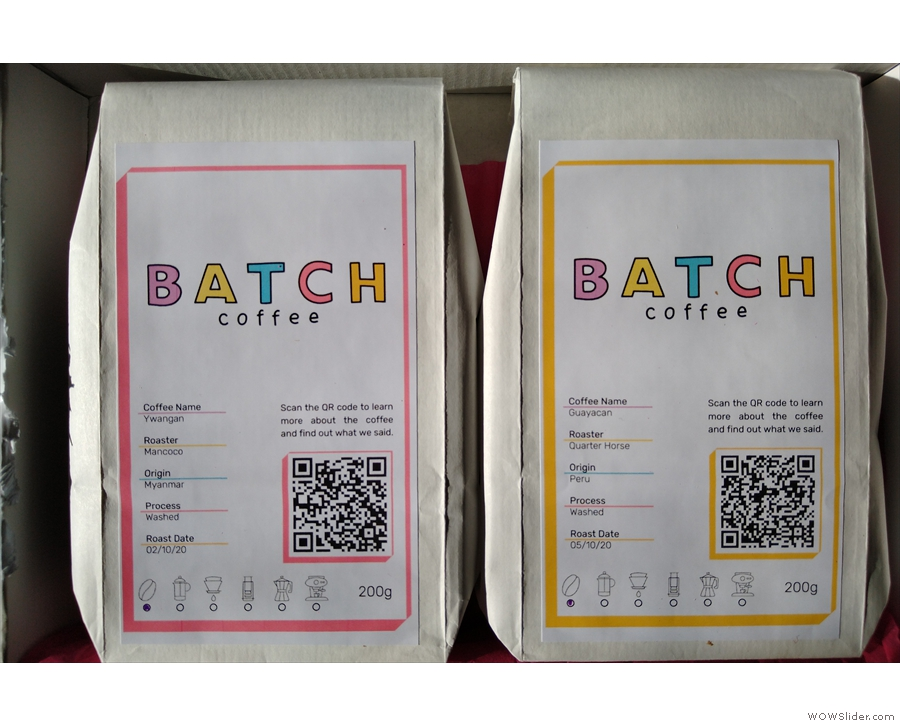 ... which contained these two beauties. Check out the QR Codes on the packets.