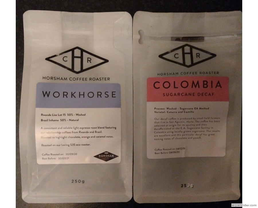 What better gift than coffee? I picked these up from my local coffee shop, Krema Coffee...