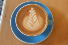 ... with some lovely latte art.