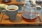 ... and an Aeropress, opting for a Yirgacheffe that was on at the time.