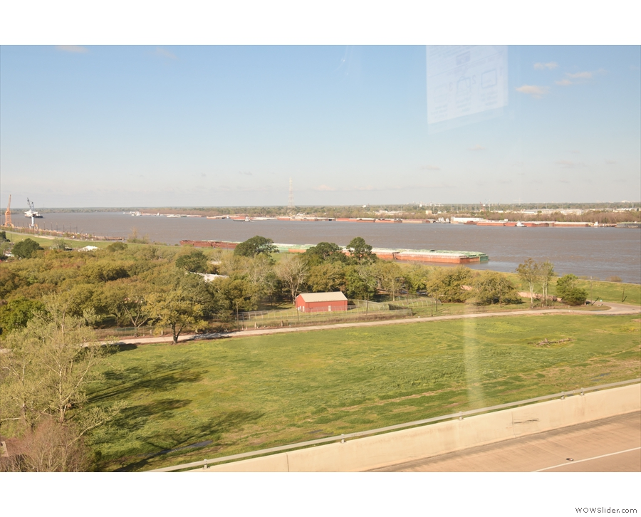 The view back towards the Mississippi.