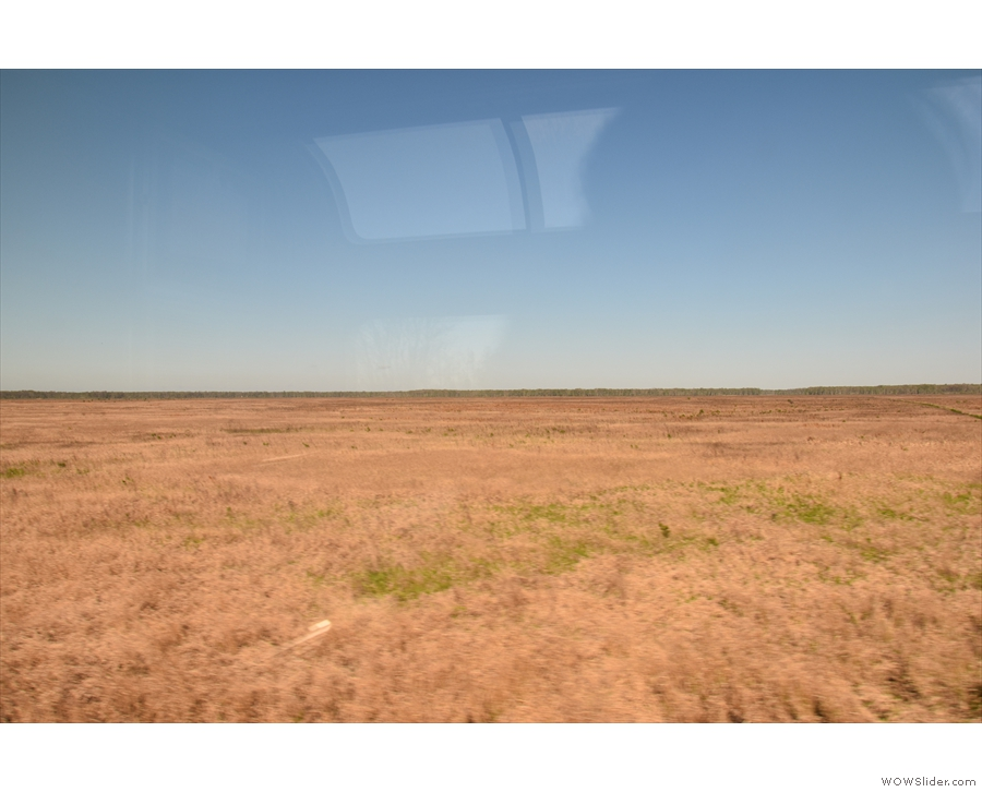 As we continued west, there was more grassland...