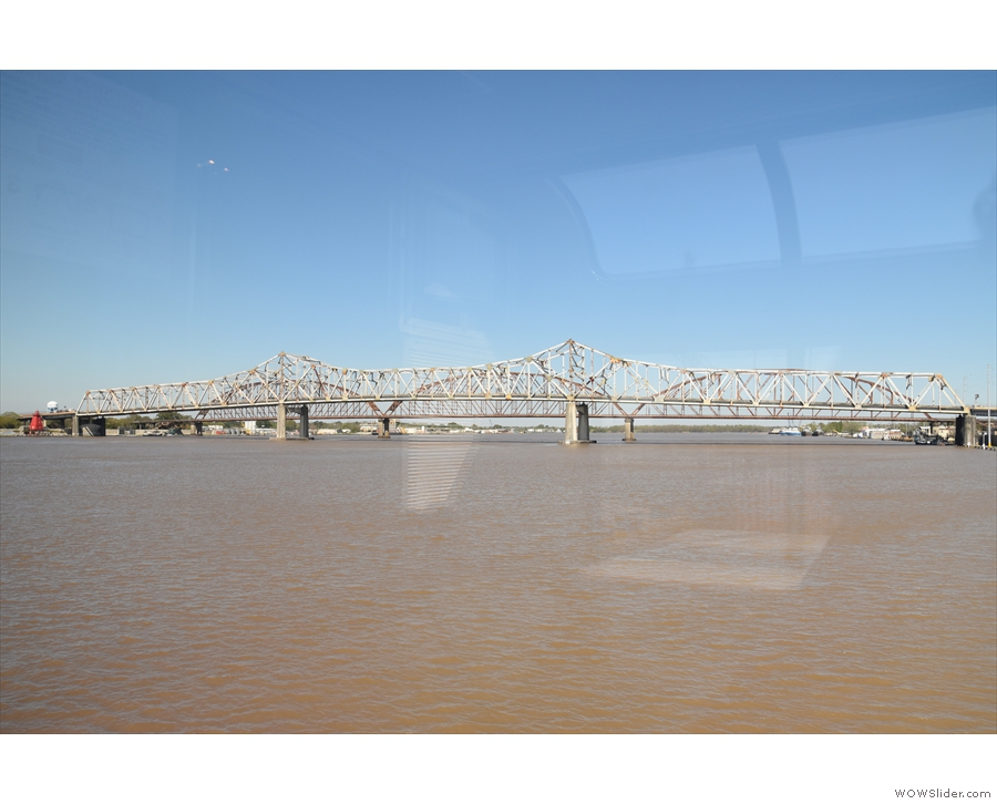 ... and here we are, crossing the Atchafalaya River, which separates Morgan City from...