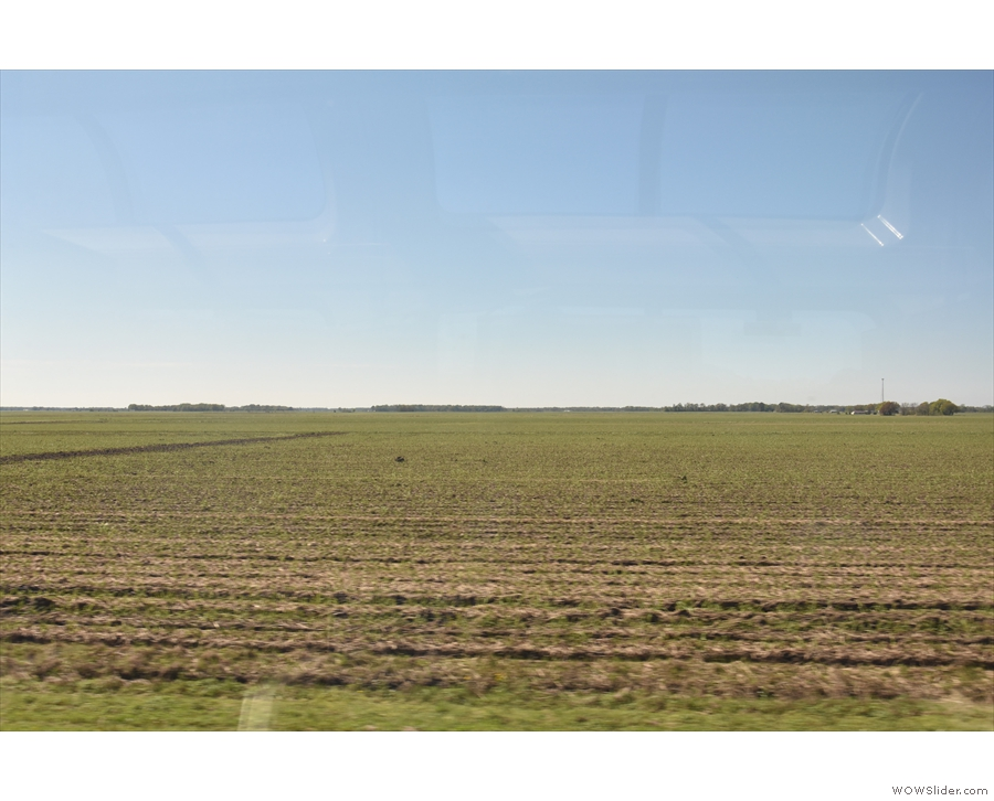 Although there was a lot of farmland...