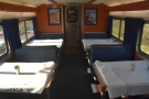 At 12:15, I went down to the dining car...