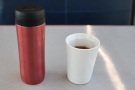 ... some coffee in my Travel Press. And yes, I brought my own cup (my Therma Cup).