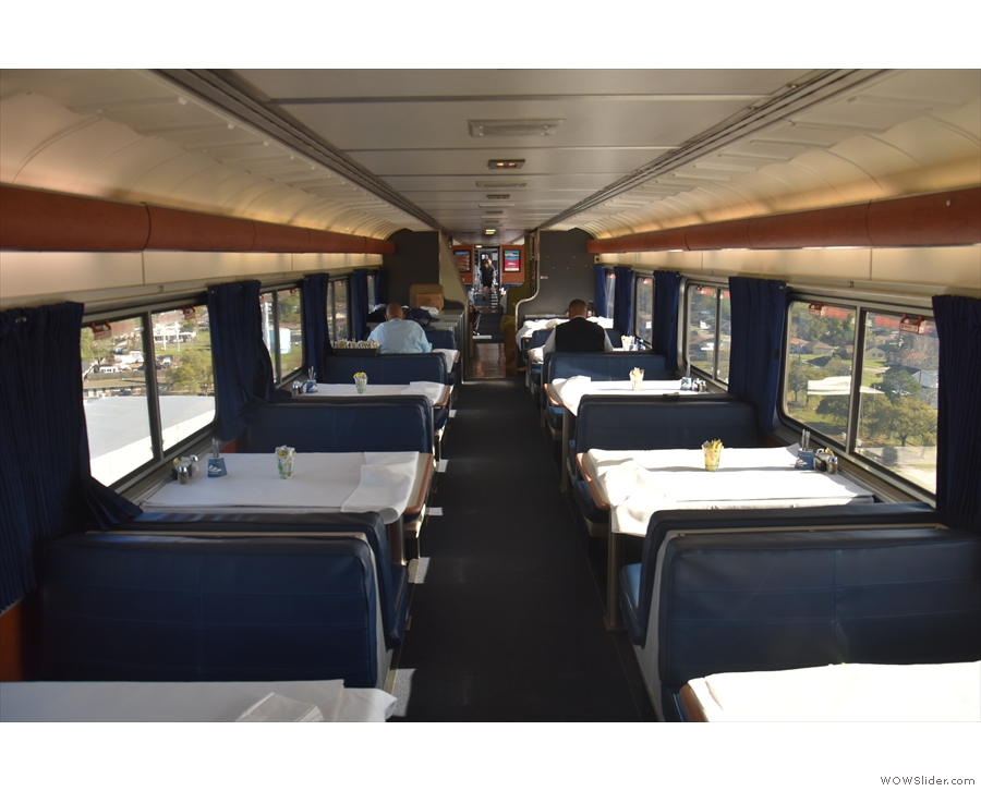 By then, it was time for a second visit to the dining car...