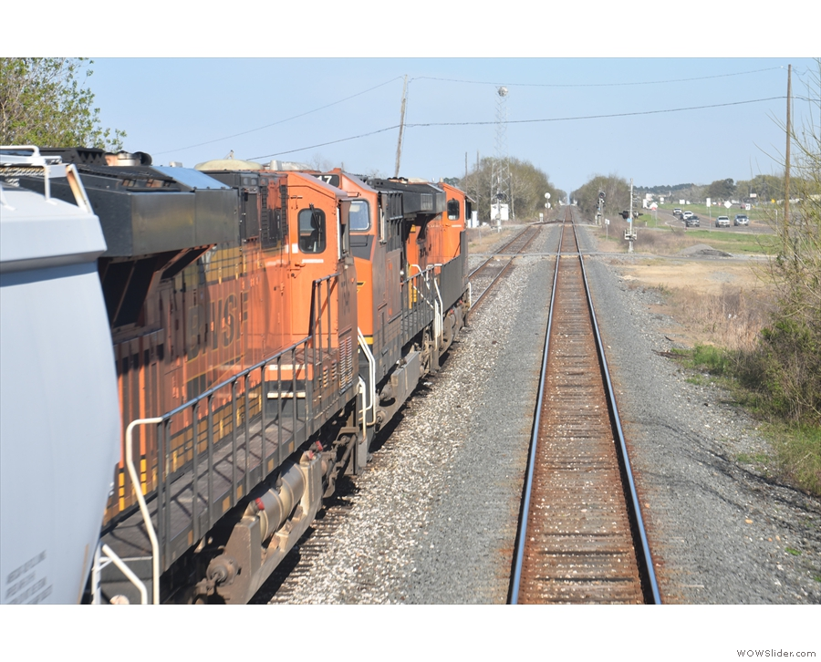 ... which sometimes have freight trains waiting in them.