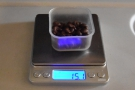 Here are some beans I weighed out earlier (scales don't work when the train is moving)...