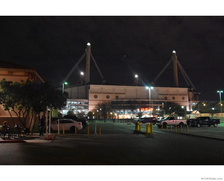 At the southern end of the station, is the Alamodome dome, a sporting/concert venue...