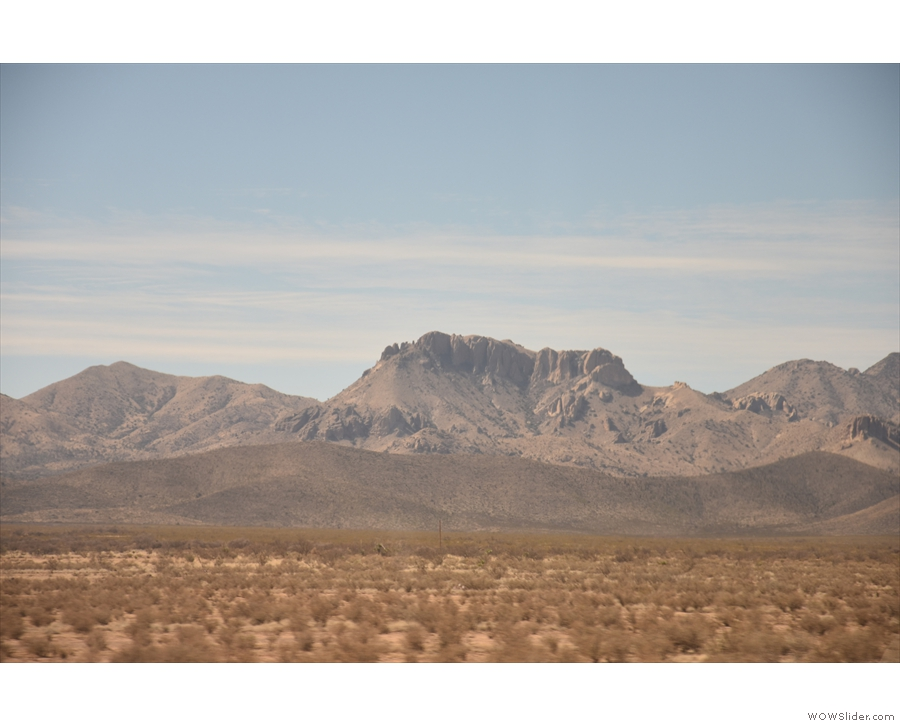 ... mountains are probably in Mexico (taken on maximum zoom).