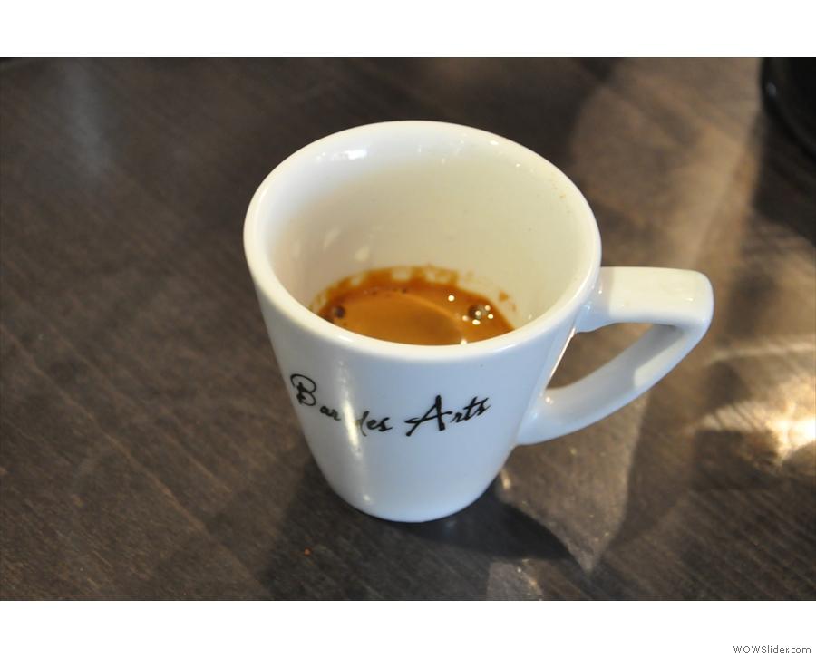 We also put the Ethiopian through the espresso machine. It was very bright!