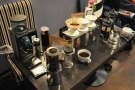 About to serve the first batch. The other Aeropress belongs to Richard (one of my guests)
