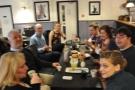 Happy friends enjoying the coffee tasting.