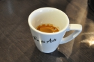 We also put the Ethiopian through the espresso machine. It was very bright!