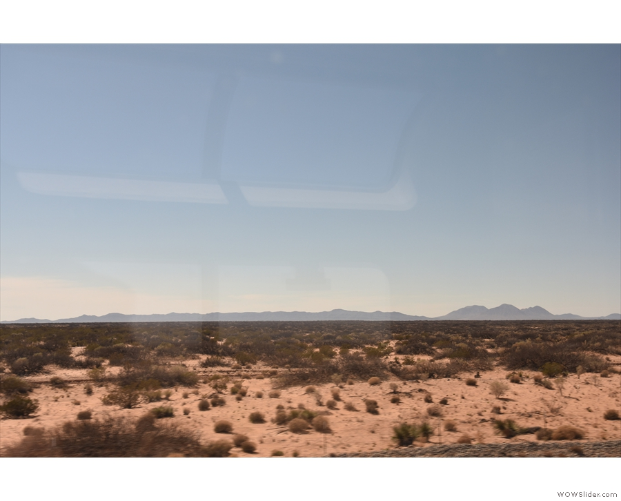 Then it was back to the open desert and its distant mountains.
