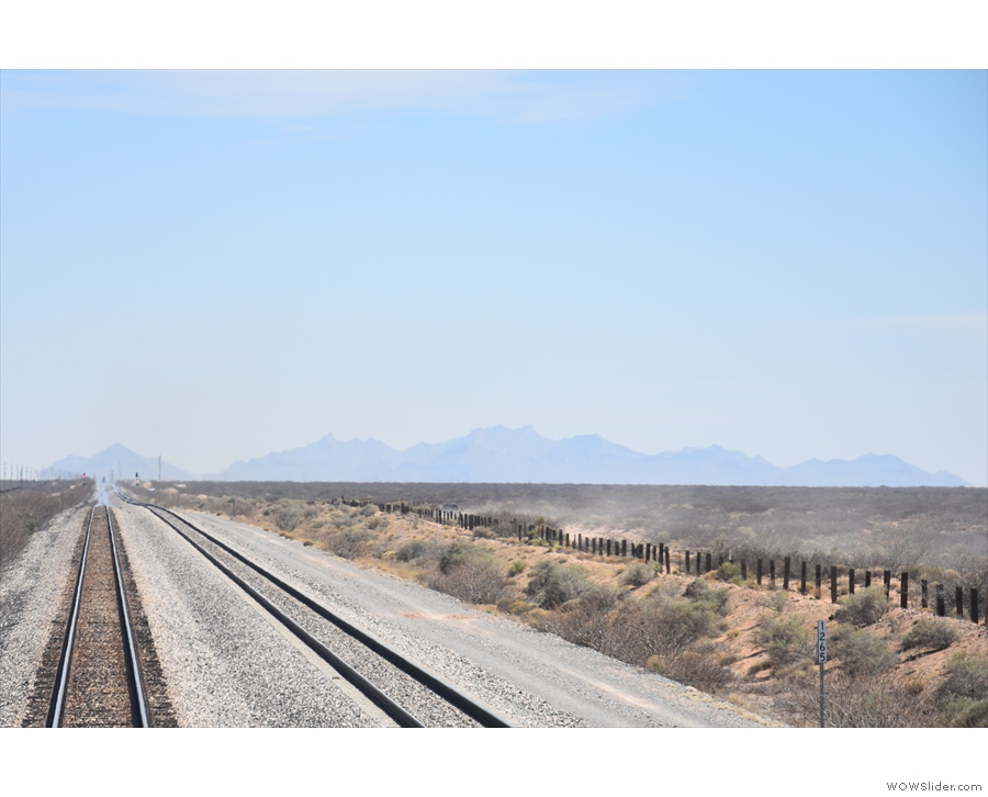 ... towards more distant mountains. Those must be beyond the Mexican border.