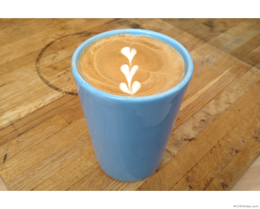 To business: my flat white in my Therma Cup, the perfect winter warmer!