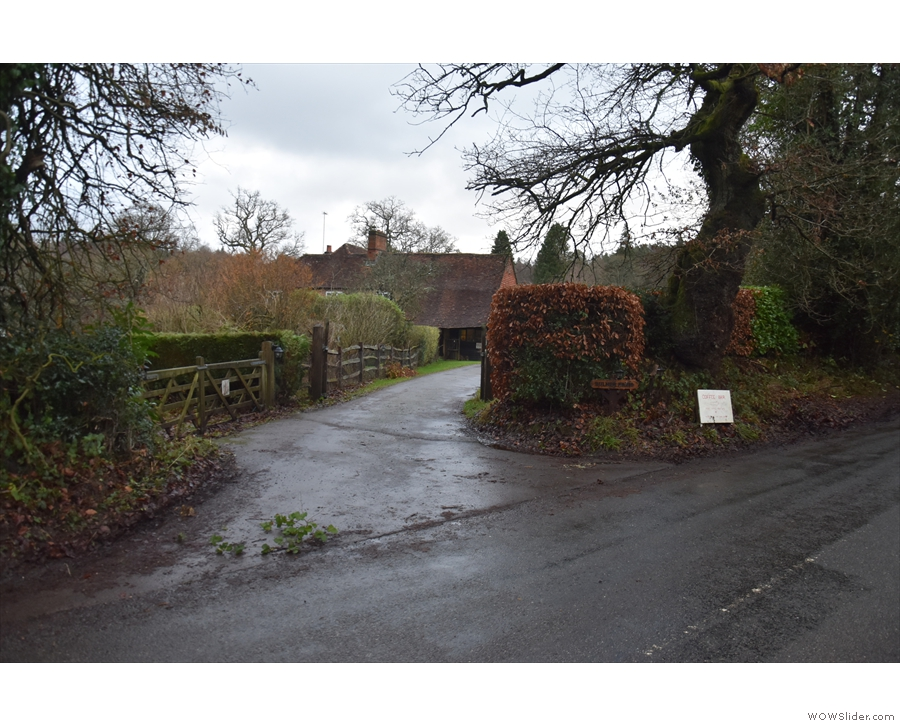 Heartwork Coffee Bar is in Bulmer Farm, but this is not the entrance you are looking for...