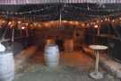 I went for the cosy warmth of the barn, which has straw bales for seats along the walls...