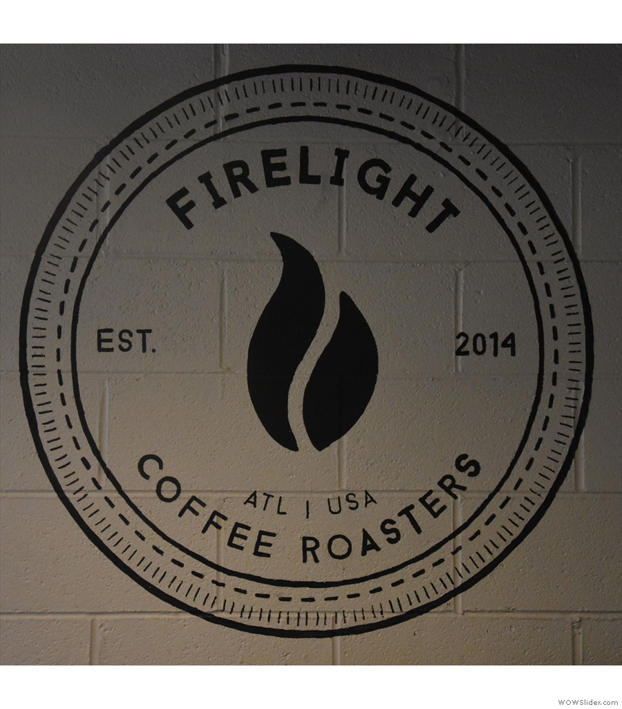 Firelight Coffee Roasters, tucked away at the back of Atlanta's Strongbox West.