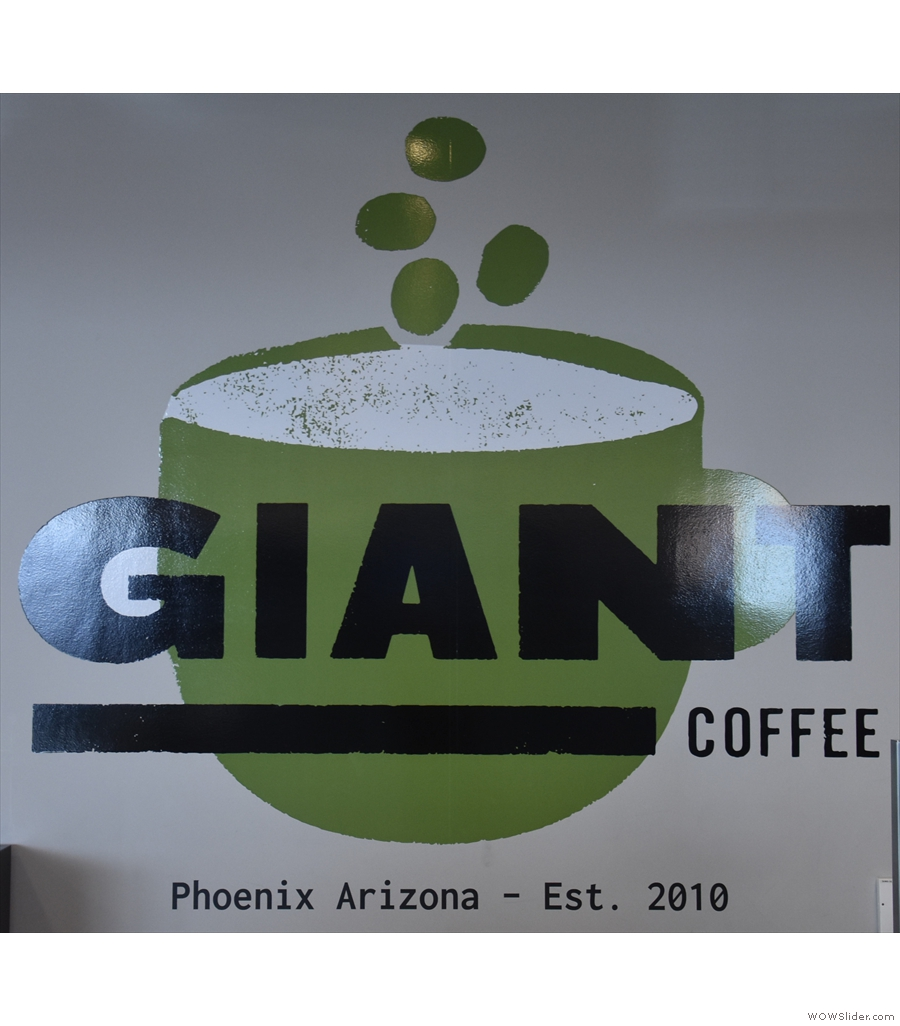 Giant Coffee, Phoenix Sky Harbor, an unexpected find in the new Terminal 3.