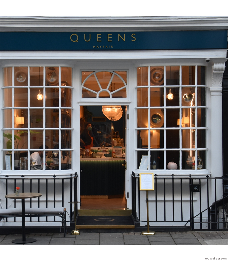 Queens of Mayfair, pleasingly in the heart of London's Mayfair.